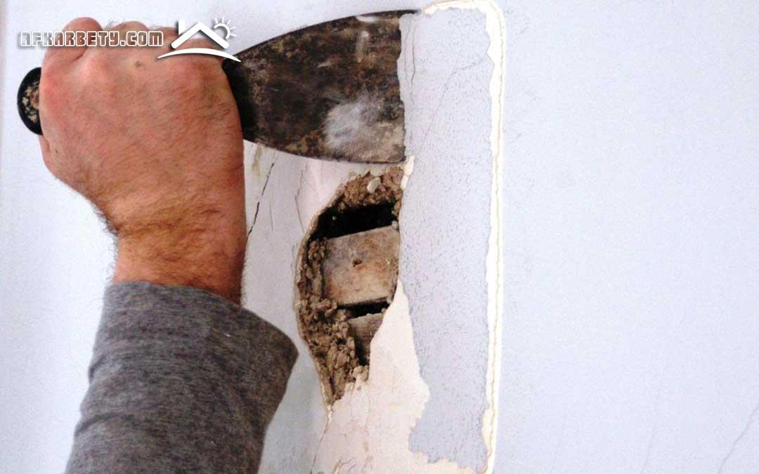 علاج تشققات الجدران