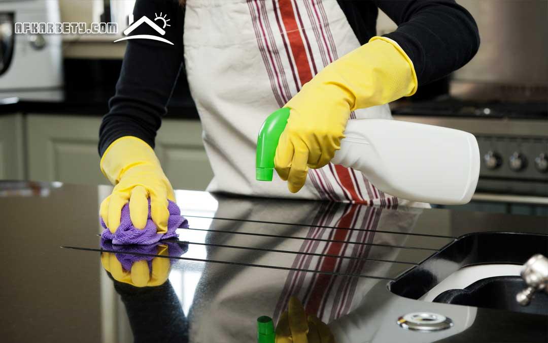 تنظيف دهون المطبخ